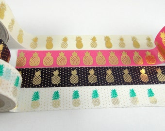 Washi Tape Sample - Pineapple Washi - Foil Washi