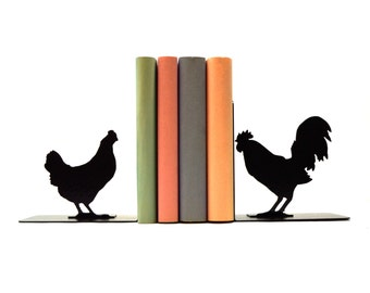 Rooster & Hen Bookends