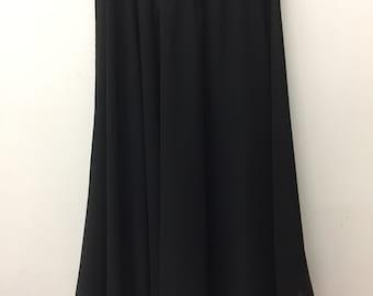 Knee Length Chiffon Ballet Skirt in Black (Pull Up)