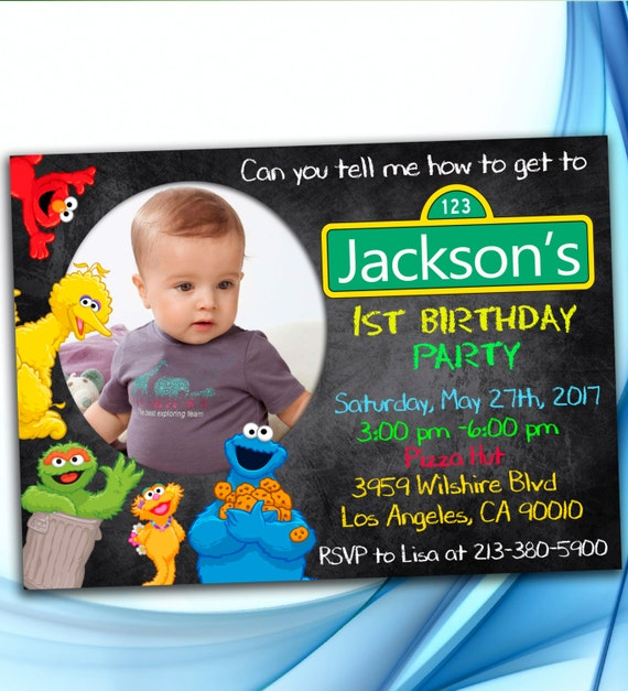 Sesame Street Invitation Sesame Street Birthday Invitation Sesame
