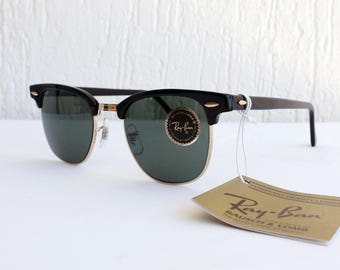 Vintage NOS B&L RAY-BAN Clubmaster W0365 G-15 49mm Sunglasses