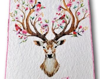 Woodland Quilt * Woodland Baby Quilt * Deer Baby Quilt * Deer Baby Blanket * Monogrammed Blanket * Baby Name Blanket