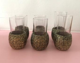 Vintage Pineapple Glasses