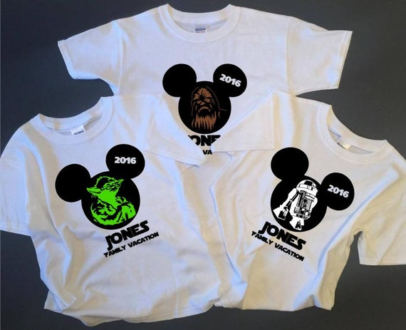 You can buy theCustom Star Wars Disney Family Shirts here