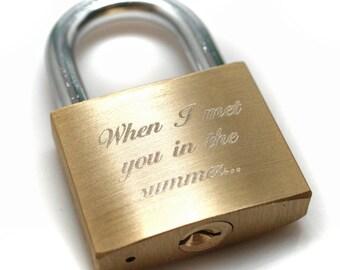 Engraved lock // Love padlock // Custom Lock // Love Padlock // Wedding gift // Personalized Padlock // gift //
