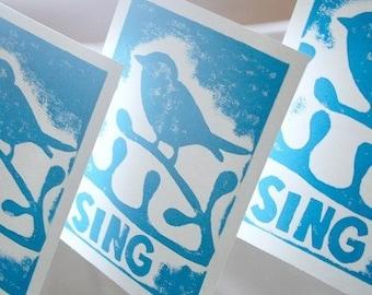 Bird Art, Bird Print, Etsy Baby, Baby Bird Art, Sing, Singing Art, Bird Illustration, Bird drawing, Cute Bird, Kids bird art, wall art