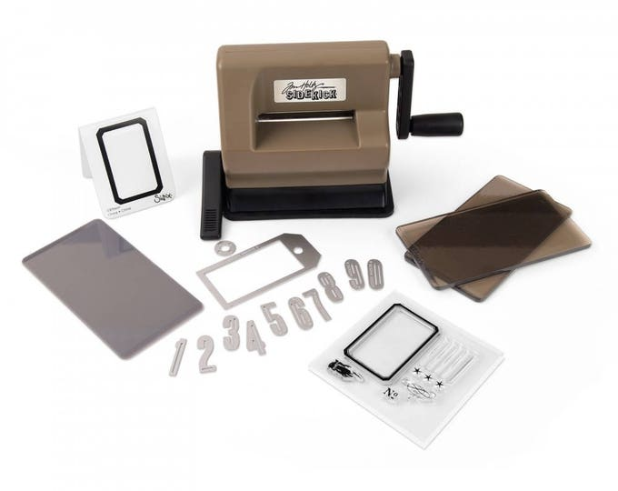 New! Sizzix Sidekick Starter Kit (Brown & Black) featuring Tim Holtz 662535