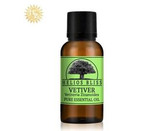 Vetiver Essential Oil - Pure Organic Vetiver Essential Oil - Vetiveria Zizanoides Oil - Therapeutic Grade Aromatherapy