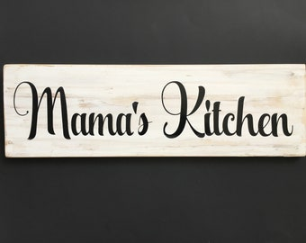 Mama's Kitchen Sign, Kitchen Sign, Kitchen Decor, Custom Sign
