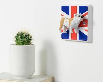 British Bulldog Light Switch - Bulldog Gift - Decorative Light Switch - Bulldog Gifts, Decorative Light Switches, Union Jack Decor Decor, GB