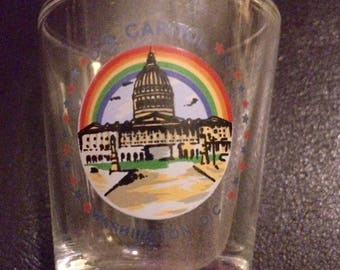 Vintage U.S. Capital shot glass