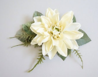 Bridal Hair Clip, Ivory Hair Clip, Ivory Wedding, Bridal Hairpiece, Floral HairClip, Woodland Hair Clip, Boho Wedding, Bridal Hair Accessory