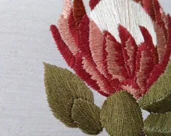 Queen Protea Embroidery - 5 Inch hoop