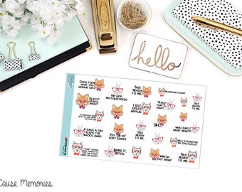 """SNARK SERIES: """"Talk Nerdy To Me"""" Paper Planner Stickers!"""