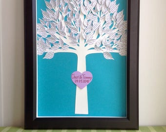 Valentine's Day - First Anniversary Gift - Personalized 3D Song Paper Tree - Made with your song - Paper Anniversary for him - Gift for her