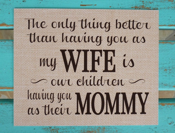 Wifes Saying On Mothers Day Sayings: Mother's Day Gifts For Wife Mommy Mother Of Our
