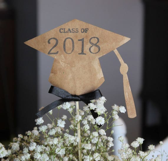 Gradaution Cap Tassel 2018 Rustic Graduation Party Decor