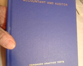 PERGANDE civil service practice tests book-1941- Accountant and Auditor
