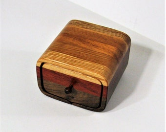 Trinket Box Made Of Five  Hardwoods