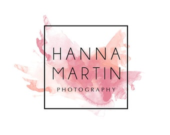 Pre-made Logo Design & Photography Watermark - Square Logo Template - Youtube Header - Blog Header - Watermark Design - Watercolor Logo 803