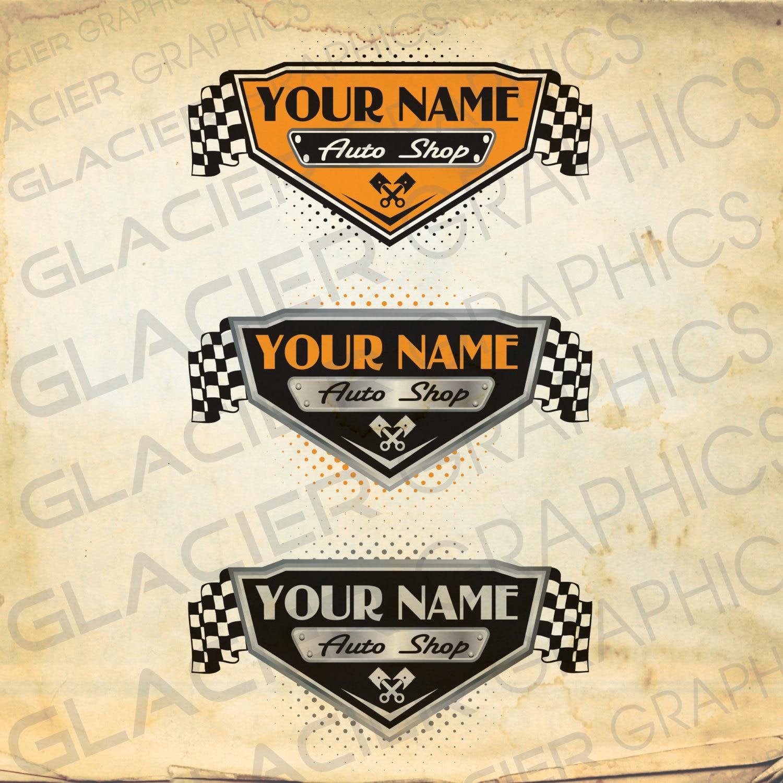Vintage Auto Shop, Auto Body, Auto Service Motorcycle Shop Custom ...