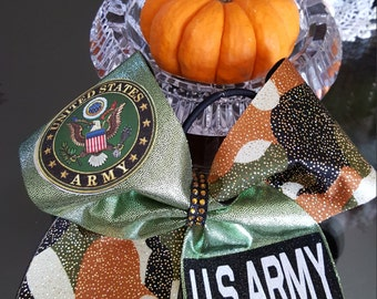 US Army Cheer Bow
