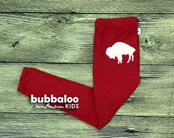 Kids Buffalo Leggings (Red)