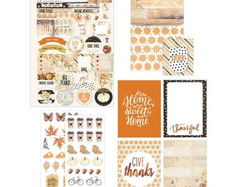 My Prima Planner Amber Moon Goodie Pack 993382 - Planner Accessories - Fall - Coffee - Stickers - Magnetic Bookmark
