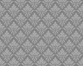 Grey Damask Cardstock Paper