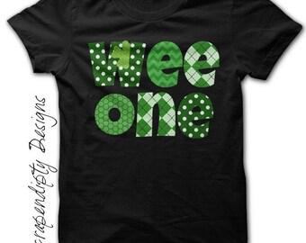 Boys Wee One Shirt - St Patricks Baby Clothes / Kids Green Shirt / Toddler St Patricks Day Outfit / Irish Clover Tshirt / Women Celtic Shirt