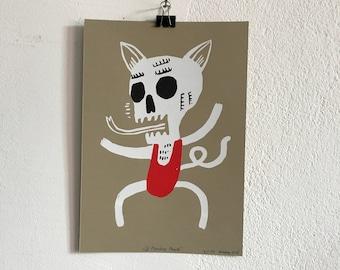 Sérigraphie «El Muerto de singe»