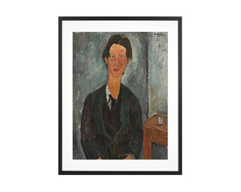 Amedeo Modigliani - Chaim Soutine - 1917 Italian Expressionist Oil Painting High Quality Print