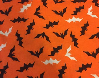 Halloween Orange Bat Bandana
