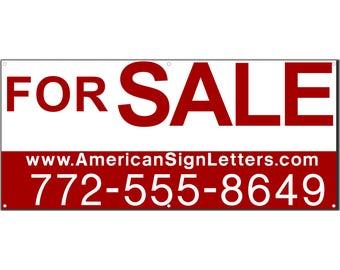 For Sale Vinyl Banner Single Sided Banner - For Sale Banner - Custom Banner