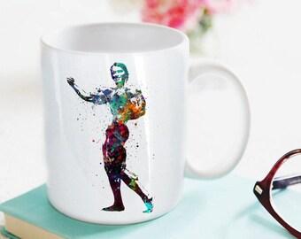 Arnold Schwarzenegger Inspired Mug Watercolor Mug Fine Art Mug Art Super Hero Mug Art Home Decor Cup Coffee Mug Celebrity Portraits