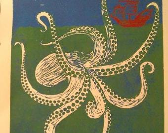 Octopus Ink Print