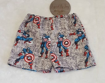 Boys Avengers Shorts - Boys Shorts - Grey Shorts