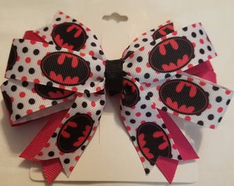 Batman Pink and Black bow.