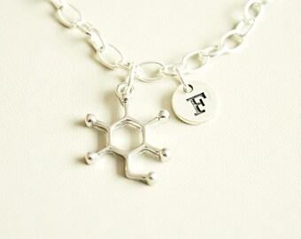 Glucose Bracelet, Glucose  Gift, Diabetes Gift, Chemical Compound Bracelet, Molecule, Sugar, Molecule Charm,Glucose Themed Gift,Science Gift
