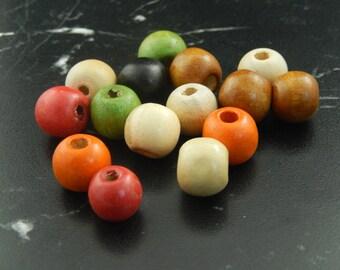 10 16 X 15 wooden round beads