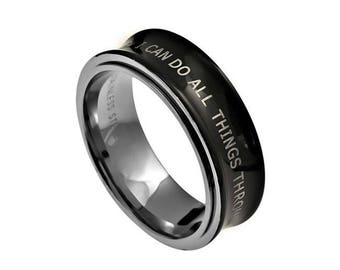 "Spinner Ring ""I Can Do All Things"""