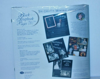 """Creative Memories 12"""" x 12"""" Black Scrapbook Old Style Refill Pages New sealed"""