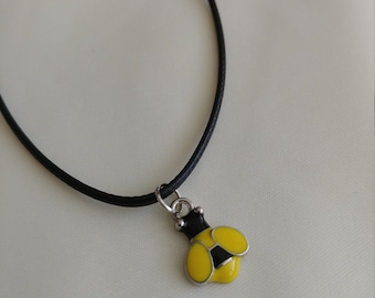 Yellow and Black Bumblebee, earring and Necklace set