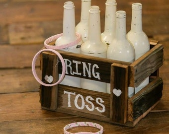 Rustic Ring Toss Game,pink,reclaimed barn wood,rustic wedding,wedding reception,wedding kids game,childrens game,childrens activity