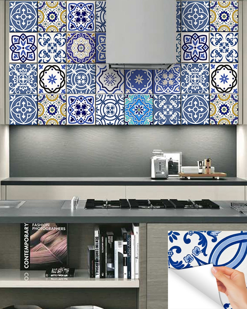 24 Tile Decals Mexican Tile Stickers Bathroom Decor Ideas
