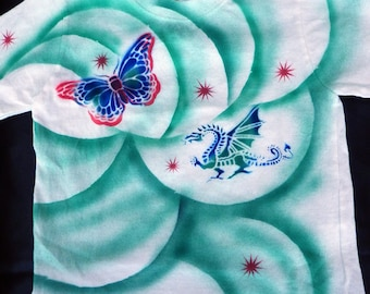 """Dragon Butterfly Airbrushed Child T-Shirt - """"SALE"""""""