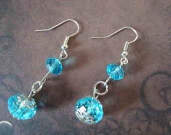 Fancy blue and Silver earrings