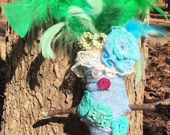 Blue and Green Voodoo Doll