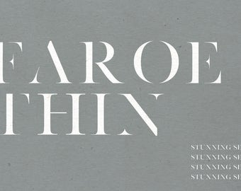 Faroe Thin | Serif Font
