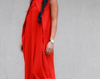 Red long loose dress, kaftan maxi dress, kaftan dress, bohemian dress, bohemian maxi dress, long loose dress, oversized dress, evening gown